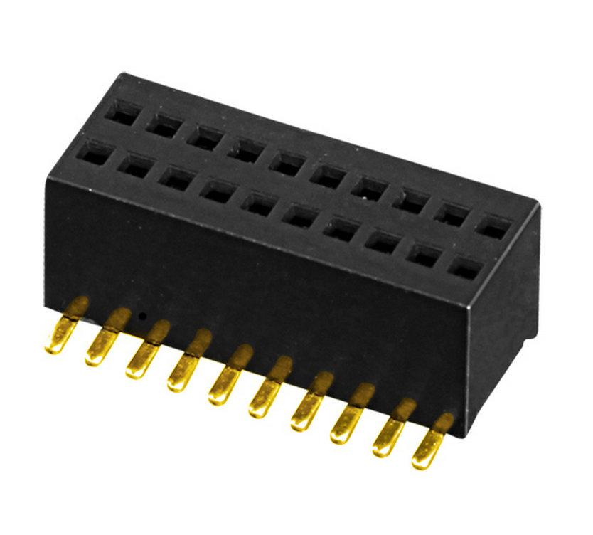 板对板 排母 PH0.8  双排 U型 H=2.6 SMT型 连接器
