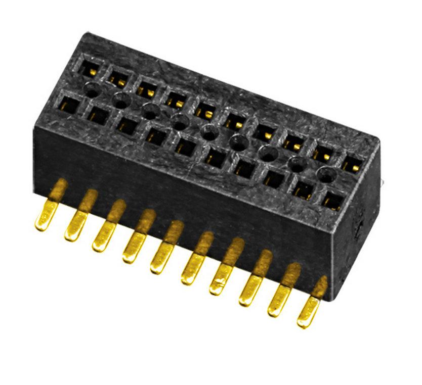 板对板 排母 PH0.8 Female 双排 H=2.6  U型 SMT型 连接器