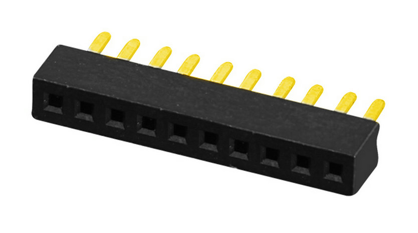 PH1.0mm Female Header H=2.0mm U-type Single Row Straight-type Board to Board Connector