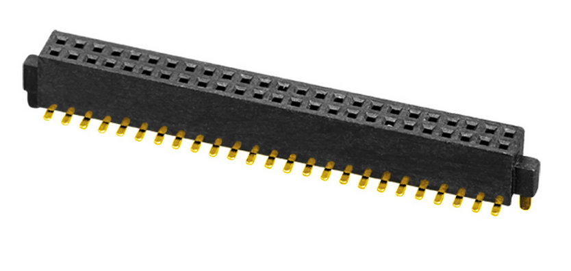 PH1.27mm Female Header H=3.4mm Dual Row U-type SMT-type with Outside Post Board to Board Connector