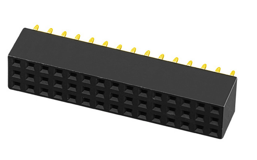 PH2.0mm Female Header Three Row Y-type Straight Type Board to Board Connector