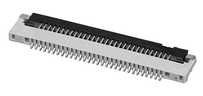 PH0.5mm FPC, H=1.2mm下接型 翻盖 FPC 连接器