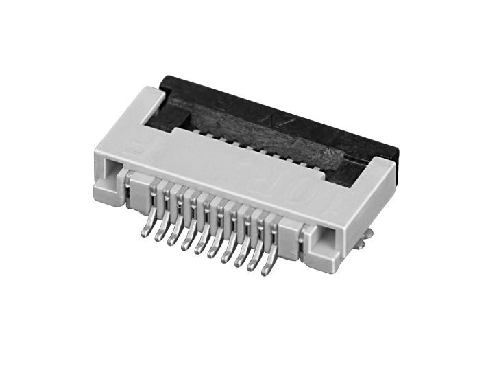 PH0.5mm FPC, H=2.0mm 带前后翻盖 FPC  连接器