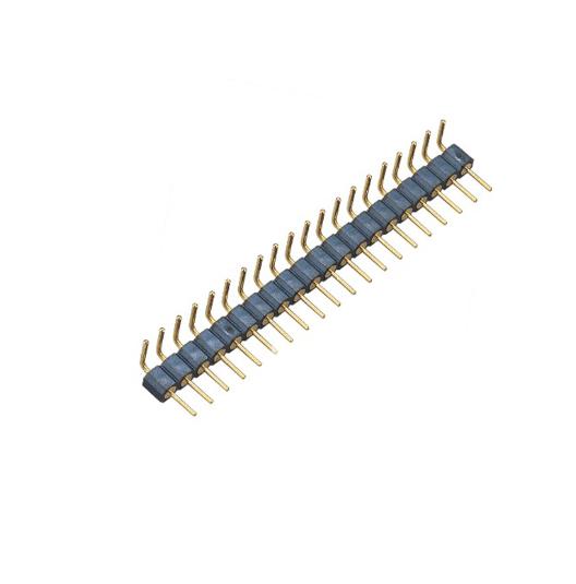 单排 PH2.54mm 机械排针 H=3.0 Single 侧弯90° 连接器
