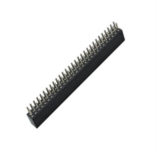 PH1.27mm Machined Female Header H=3.8 Double Row Straight Type