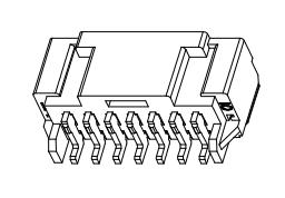 L2009卧式贴片-XX-D1CB1-R连接器