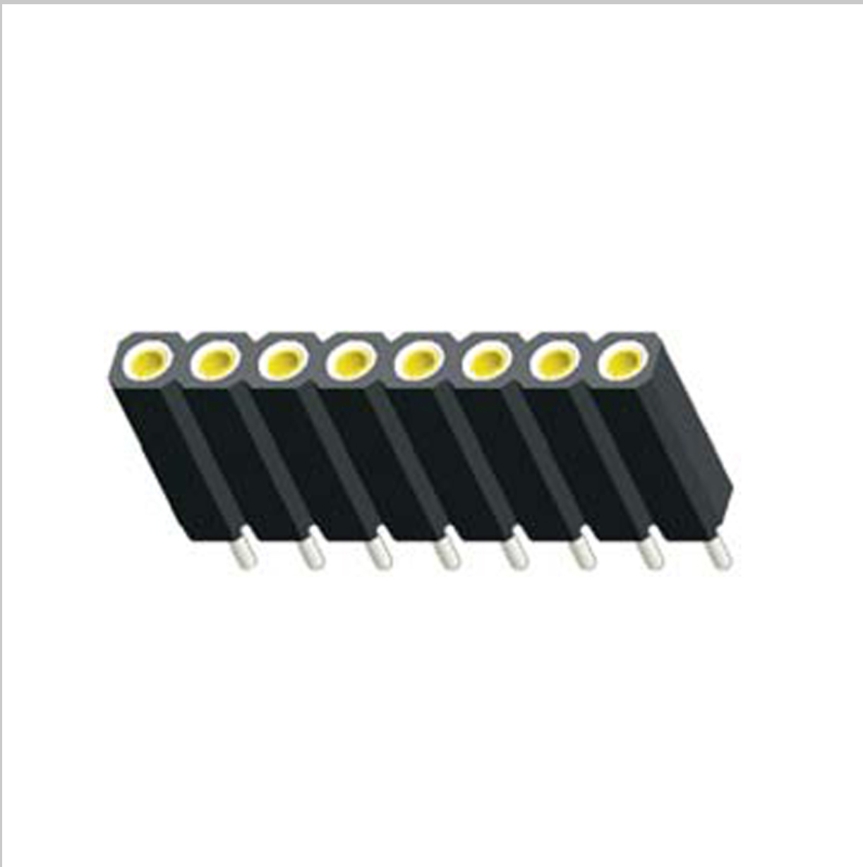 L488XX-97XXX 排母圆孔型PH2.54X3.0 单排 卧贴